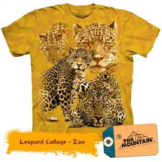 Tricouri The Mountain – Tricou Leopard Collage Large Animals, Animal Fashion, Big Cats, Cool T Shirts, Floral Prints, Collage, The Incredibles, Stylish, Mens Tops