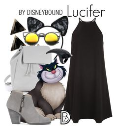 """""""Lucifer"""" by leslieakay ❤ liked on Polyvore featuring Maison Close, Zara TRF, New Look, rag & bone, ZeroUV, disney, disneybound and catlady"""