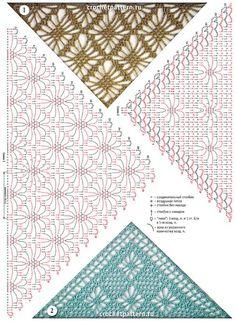 mis pasatiempos  amo el crochet¡¡¡¡:): Diseños para realizar un chal