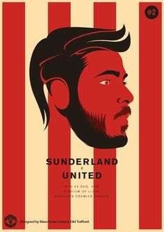 Match poster. Sunderland vs Manchester United, 24 August 2014. Designed by @manutd.