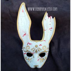 READY TO SHIP Splicer Bunny Leather Mask Bioshock masquerade bunny... ($225) ❤ liked on Polyvore featuring costumes, cosplay halloween costumes, bunny rabbit costume, role play costumes, masquerade costumes and mardi gras costumes