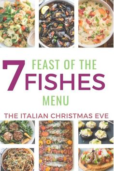 The Feast of the Seven Fishes menu: one of my favorite Christmas Eve traditions! Here are some delicious (and easy!) Feast of the Seven Fishes recipes if you're hosting this traditional Italian Christmas Eve dinner this year! Christmas Eve Dinner, Italian Christmas, Xmas, Fish Dishes, Seafood Dishes, Healthy Freezer Meals, Easy Meals, Seven Fishes, 7 Fishes
