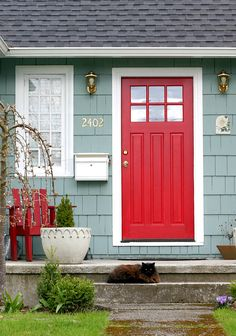 house with red shutters - Google Search