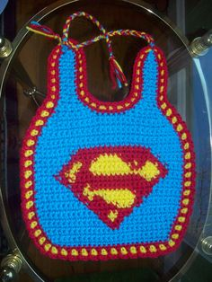 superman bib - what a novel idea