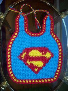 superman bib - what a novel idea