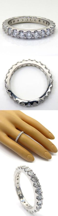 Other Wedding and Anniv Bands 92866: 1.17Ct Ladies 14K White Gold Natural Vs2 Diamond Eternity Wedding Band Ring -> BUY IT NOW ONLY: $650.0 on eBay!