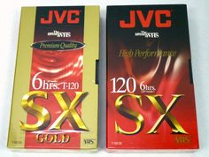 JVC VHS Tapes Lot of 2 SX 120 T-120 NEW Factory Sealed Premium & High Quality #JVC