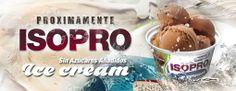 ISOPRO ICE CREAM --> ¡PRÓXIMAMENTE!  El nuevo helado de Quamtrax Nutrition disponible en cuatro sabores y fabricado a partir del mejor aislado de proteína de suero con 20% de proteína ISO WHEY y menos de un 1% de grasa.