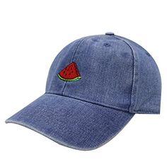 City Hunter, Baseball Cap, Watermelon, Denim, Amazon, Colors, Hats, Fabric, Cotton