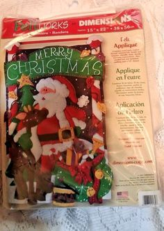Dimensions Felt Applique Banner Merry Christmas kit 8106 #Dimensions
