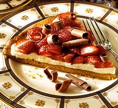 Strawberry-Mascarpone Dessert Pizza: Every bite of this spectacular mascarpone cheese dessert tantalizes the taste buds.