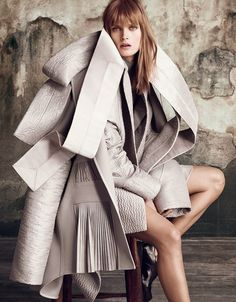 Malgosia Bela in 'The Development Of Form' by Luigi + Iango for Vogue Japan, September 2014.