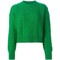 Isabel Marant Étoile 'Newlin' sweater (20.825 RUB) ❤ liked on Polyvore featuring tops, sweaters, green, green cable sweater, etoile isabel marant sweater, wool sweater, long sleeve cable knit sweater and long sleeve sweaters