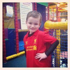 Charlie posing in LFC kit