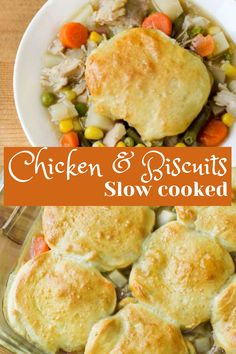I show you how Easy it is to make Chicken and Biscuits in your slow cooker for an effortless weeknight dinner recipe Best Crockpot Recipes, Chicken And Biscuits, Quick Weeknight Dinners, Best Slow Cooker, Slow Cooker Chicken, How To Cook Chicken, Dinner Recipes, Brunch, Tasty