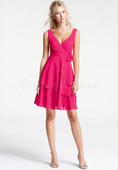bridesmaid dress,bridesmaid dresses,bridesmaid dress,bridesmaid dresses modern a-line flowers short hot pink bridesmaid dress