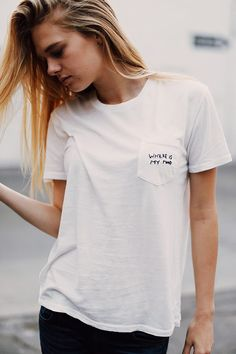Brandy ♥ Melville | Ieva Where Is My Mind Embroidery Top - Graphics
