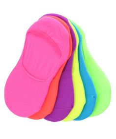 Solid High-Cut Liner Socks 6 Pair. Product Fabric: 68% Acrylic, 30% Polyester, 2% Spandex