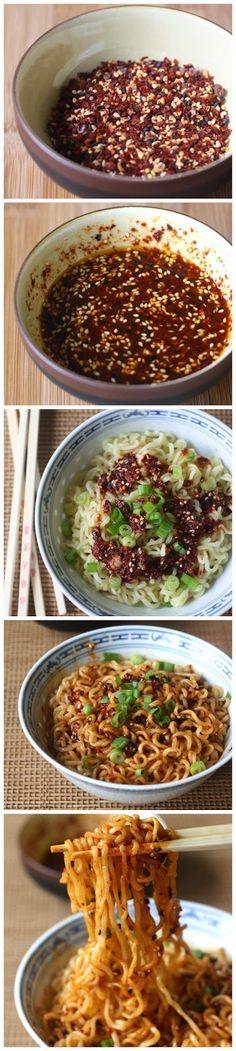 Ramen Noodles with Spicy Korean Chili Dressing - RedStarRecipe