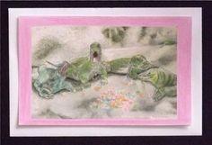 Komodo Dragon Candy Hearts Valentine Card Greeting by maryjill, $4.50