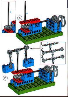 LEGO 1031 Universal Set instructions displayed page by page to help you build this amazing LEGO Technic set Lego Wedo, Lego Duplo, Lego Nxt, Bloc Lego, Lego Gears, Technique Lego, Instructions Lego, Lego Technic Sets, Lego Machines