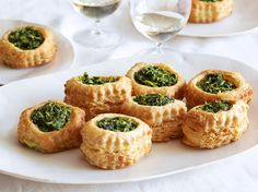 Stuff flaky puff pastry pockets with a creamy, cheesy spinach filling for an elegant spring appetizer.