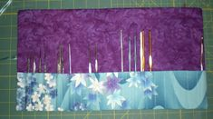 Tutorial to make a Crochet hook or knitting needle organization roll