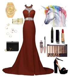 """Dress #15"" by ralucastephany ❤ liked on Polyvore featuring Boohoo, Rolex, Maybelline, Chanel and Mulberry"