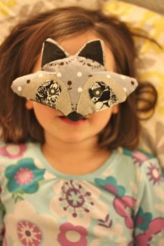 DIY Raccoon Eye Pillows. These are so cute and I bet kids would have a blast making little sleep critters!