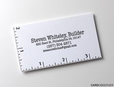 What a great idea for a tailor, seamstress, carpenter or architect.