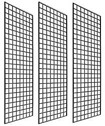 Only Garment Racks (Box of Grid Panel for Retail Display - Perfect Metal Grid for Any Retail Display, 3 Grids Per Carton (Black Finish) (Fivе Расk) Ez Up Tent, Wire Grid Panels, Art And Craft Shows, Metal Grid, Industrial Shop, Sewing To Sell, Selling Handmade Items, Garment Racks, Store Fixtures