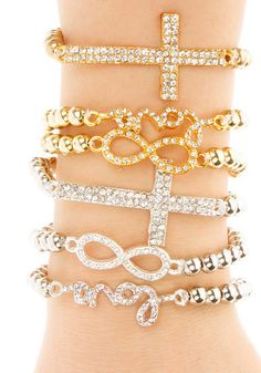 Bling Pendants Bracelet Set on Behance