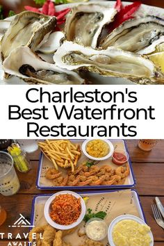 Charleston, SC is one of the most popular destinations in the US. Not least, perhaps, because of its food! South Carolina Food, Charleston South Carolina, South Carolina Vacation, Myrtle Beach Vacation, Charleston Sc Restaurants, Charleston Food, Charleston Style, Waterfront Restaurant, Food & Wine Magazine