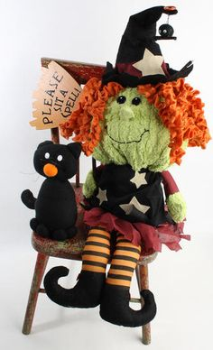 "24"" Bella the Good Witch Doll & Her Friend Boo Halloween Set"