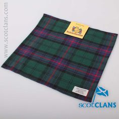 Armstrong Modern Tartan Pocket Square. Free worldwide shipping available