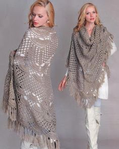 Crochet Wrap around Shawl My daughter in-law Emily would look great in this
