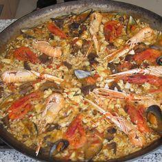 Typical fish Paella