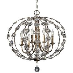 """Josie room? 19 or 27"""" 590 or 820 Leila Chandelier by Feiss at Lumens.com"""