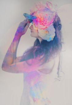 """""""A Bluebird's Song""""  Mixed media Photography & Water Color Christen Lucas 2012"""