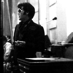 "Elvis At Western Recorders in Burbank, California on June 23rd, 1968. Studio Recording for ""'68 Comeback Special"""