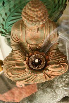 Buddha and incense