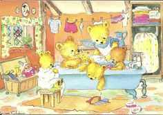by Jean Gilder - teddies bath time