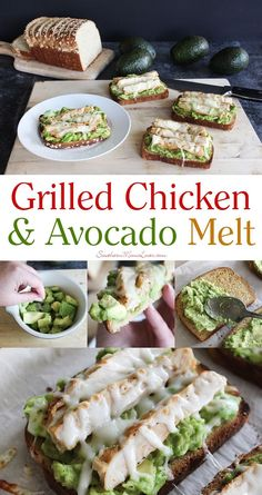 New year, new you? Try my deliciously balanced Grilled Chicken & Avocado Melt. New year, new you? Try my deliciously balanced Grilled Chicken & Avocado Melt. Good Healthy Recipes, Healthy Meal Prep, Healthy Snacks, Healthy Eating, Avocado Dessert, Avocado Smoothie, Avocado Recipes, Lunch Recipes, Cooking Recipes