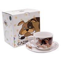 Coffee and dog