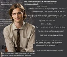 Spencer Reid Criminal minds is my favorite show Spencer Reid Quotes, Dr. Spencer Reid, Dr Reid, Spencer Reid Criminal Minds, Criminal Minds Quotes, Criminal Minds Cast, Matthew Gray Gubler, Behavioral Analysis Unit, Crimal Minds
