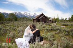 Wedding ceremony at grand teton lodging company in jackson for Jackson hole wyoming honeymoon cabins