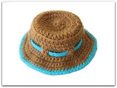 Crochet Dreamz: Boy's Sun Hat Crochet Pattern, Newborn to 10 Years