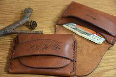 Mens Leather Wallet Personalized Handmade Wallet Groomsmen