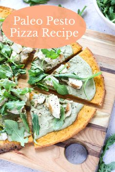 There's truly nothing better than homemade pizza! This Gluten-Free Pesto Pizza with Chicken is a fun, summery twist on my original recipe. It's easy to make, filled with nourishing ingredients, and can be easily customized! Paleo Chicken Recipes, Paleo Recipes Easy, Gluten Free Recipes For Dinner, Whole 30 Recipes, Vegetarian Recipes, Fun Recipes, Dinner Recipes, Sweet Potato Pizza Crust, Paleo Pesto