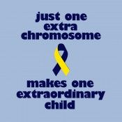 Just one extra chromosome makes one extraordinary child!